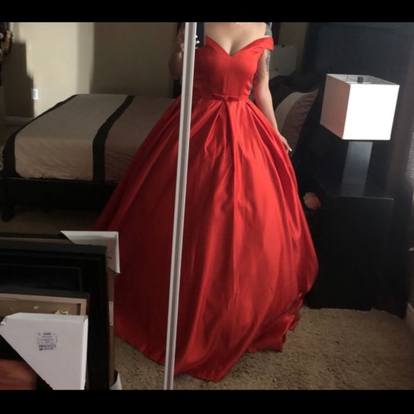 Dresses | Off Shoulder Red Ball Gown | Poshmark